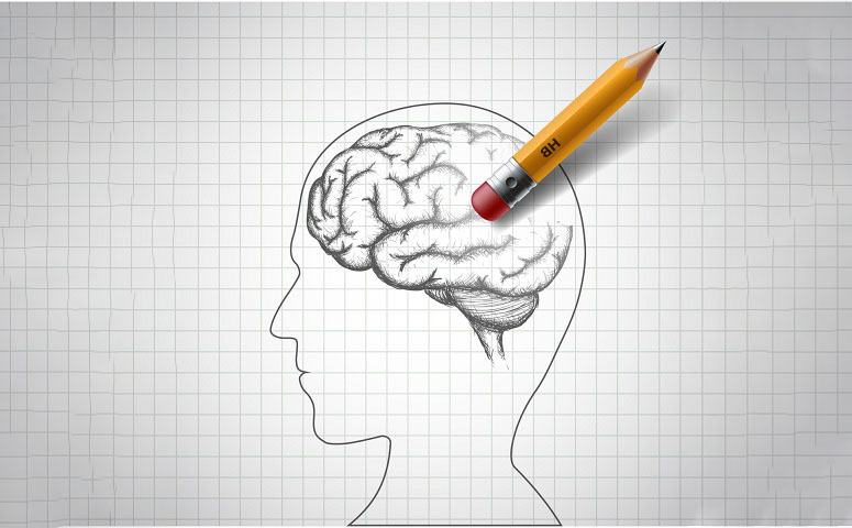 Illustration Of Brain And Pencil