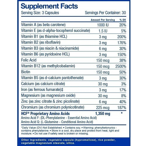 HCF Brain Supplement Ingredients