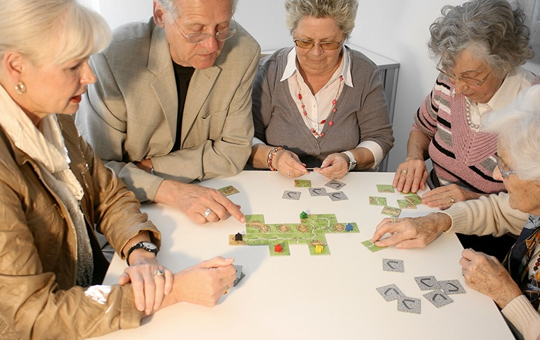 Playing Games Old Peoples